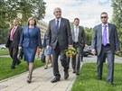 S PRVNÍ DÁMOU. Prezident Miloš Zeman dorazil do Zlínského kraje i s manželkou...