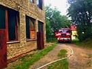 Požár v průmyslové hale v Brodku u Přerova způsobil statisícové škody.
