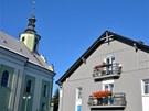 Architektura ve Městě Albrechtice nezapře německý styl.