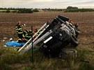 Dopravní nehoda na D11 u Chlumce nad Cidlinou (9.9.2013).