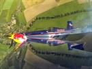 Akrobatickou show předvedl na CIAF Martin Šonka, fotoaparát MF DNES absolvoval...