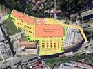 Developer zamýšlí vybudovat Interspar, obchodní galerii a parkoviště v části...