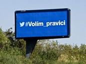 Předvolební billboard ODS bez loga strany. (6. září 2013)