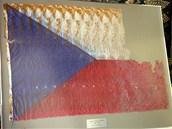 �esk� vlajka nalezen� v trosk�ch Ground Zero