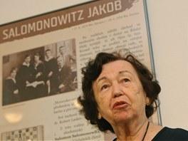 Libuše Salomonovičová na výstavě Nezapomněli jsme na ně? v Ostravském muzeu.