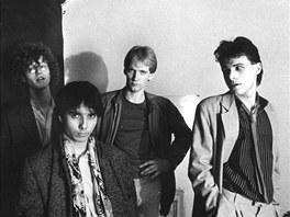 �entour v 80. letech, kdy byl jeho �lenem i David Koller (druh� zprava; prvn�