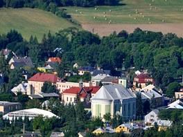 Město Albrechtice z rozhledny