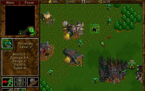 Strategie Warcraft 2 z roku 1995