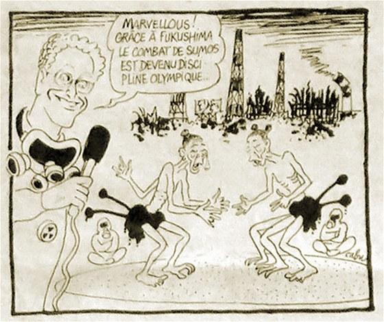 Japonský přetisk francouzského komiksu, který se vysmívá plánům na olympijské