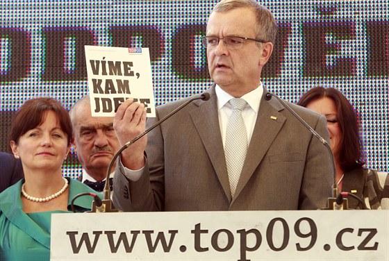 Miroslav Kalousek představuje předvolební kampaň TOP 09