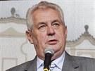 Miloš Zeman v Pardubicích (11. září 2013)