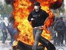 Protesty ke 40. výročí Pinochetova převratu ve městě Valparaiso, asi 121...