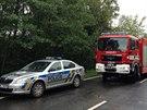 Složky IZS zasahují u nehody u Vrchotových Janovic (16.9.2013)