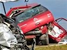 Smrtelná nehoda na hlavním tahu z Brna do Svitav. Řidič citroënu dostal u Lysic...