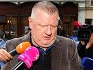 Vlivný lobbista a podnikatel Ivo Rittig přichází k výslechu v souvislosti s