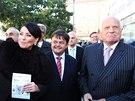 Exprezident Václav Klaus podpořil volební blok Hlavu vzhůru, který vede Jana