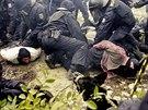 Policejní cvičení boje proti extremistům v pardubické Tesle.
