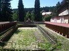 Sluneční lázně v Luhačovicích navrhoval architekt Dušan Jurkovič.