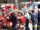 Historická koňská stříkačka Sboru dobrovolných hasičů Cholupice