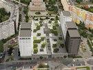Vizualizace umístění plánovaných věžáků na Lužinách.