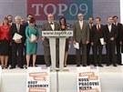 TOP 09 představuje svůj předvolební program.