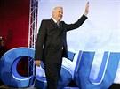 Bavorsk� premi�r a ��f CSU Horst Seehofer vyhr�l zemsk� volby v Bavorsku.
