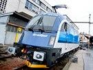 Křest lokomotivy 1216 Taurus v barvách Českých drah. Lokomotiva se jmenuje...