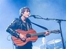 Jake Bugg na vystoupení v rámci iTunes festivalu v londýnském klubu Roundhouse.
