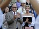 Monack� kn�e Albert II. a jeho man�elka Charlene