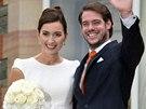 Lucemburský princ Félix a Claire Lademacherová měli civilní sňatek 17. srpna...