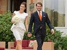 Claire Lademacherová a lucemburský princ Félix se vzali (17. srpna 2013).