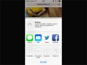 iOS 7 pro iPhone: Nabídka pro sdílení