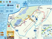 Mapka dopravy na Dny NATO na mošnovském letišti.