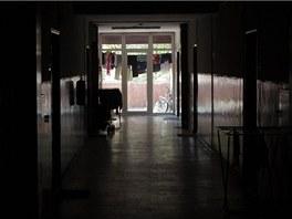 Ponur� je �dajn� atmosf�ra okolo ubytovny v Ostrav�-Z�b�ehu.