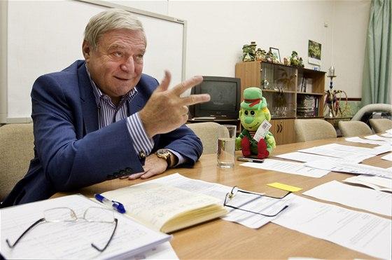 Lobbista Miroslav Šlouf při rozhovoru pro iDNES.cz (24. září 2013)