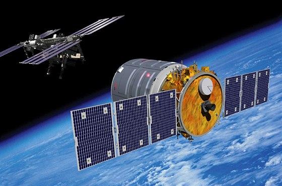 Vizualizace p�ibli�ov�n� soukrom� lodi Cygnus k ISS