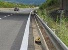 Za dva týdny stihla dvojice zlodějů ukrást z dálnice D8 u Ústí nad Labem 129...