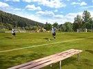 Obec by mohla v budoucnu zvelebit také zdejší fotbalové hřiště.