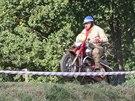 Jezdec na trati Fichtel cup enduro 2013 v Náměšti nad Oslavou.