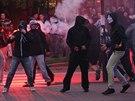 Protiromsk� protest v Ostrav� skon�il melou, radik�lov� m��ili k ubytovn� (27....