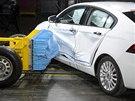Crash test čínského vozu Qoros 3 sedan