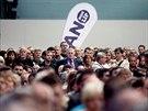 Mítink hnutí ANO v Brně přilákal stovky lidí (26. září 2013)