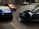 Nehoda v pražské Vrbově ulici (26. září 2013)
