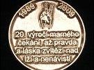 Medaile k 20. v�ro�� od sametov� revoluce.