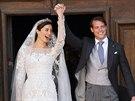 Princ Félix si podruhé v jednom týdnu vzal za ženu Claire Lademacherovou. V...