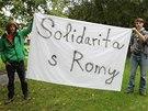 O hodinu dříve než sraz extremistů se v Přerově konal happening na protest