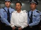 Po Si-laj při vyslechnutí rozsudku u soudu v Ťi-nanu