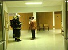V kantýně prostějovské nemocnice začalo hořet chladící zařízení, kvůli hustému