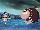 Záběr z animovaného filmu Oggy a škodíci