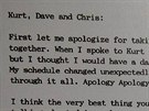 Dopis, kter� producent Steve Albini poslal kapele Nirvana p�ed nahr�v�n�m...